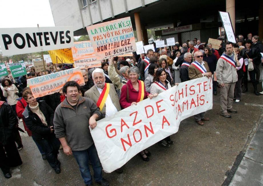 Une manifestation contre le gaz de schiste dans le Var
