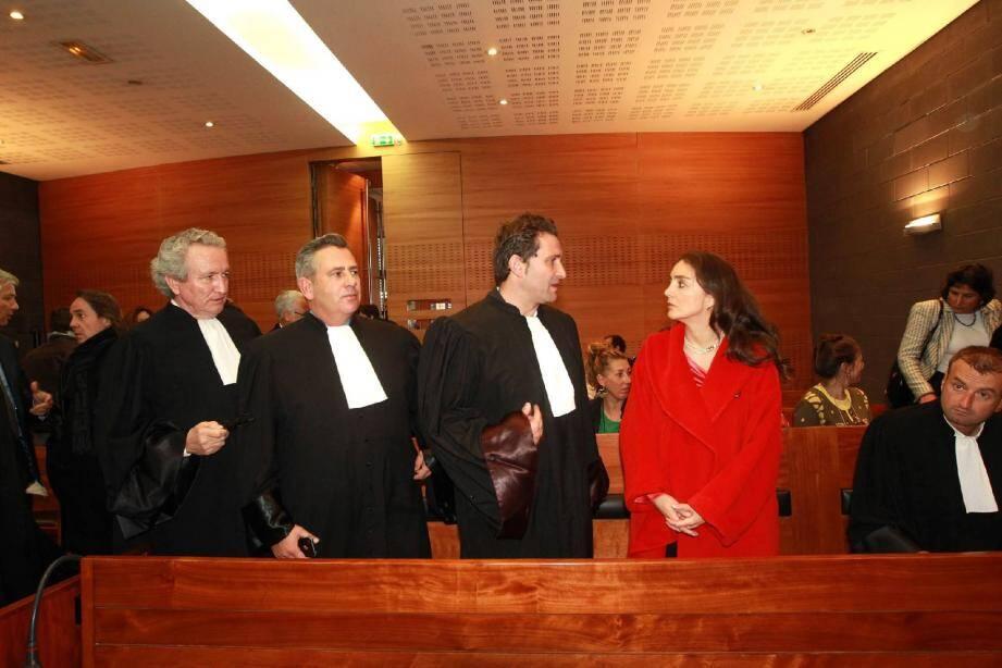 Les trois principaux avocats qui ont plaidé à Toulon contre le certificateur TÜV. De gauche à droite Mes Jacky Petitot, Olivier Aumaître et Laurent Gaudon.