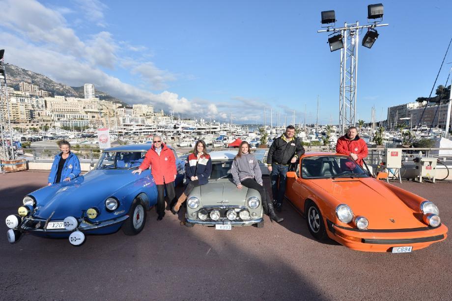 La famille Mourenon prête à prendre le départ du 17e Rallye Monte-Carlo historique.