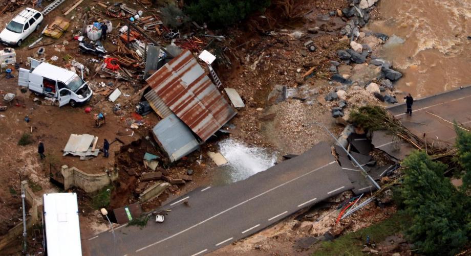 DIAPO. Intempéries dans le Var: les dégâts vus du ciel