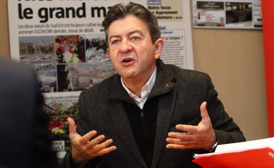 """""""Il y a bien un désaccord entre le PC et le Parti de gauche"""" pour les municipales, avoue Jean-Luc Mélenchon."""