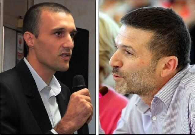 Jean-Noël Falcou (photo de gauche) aurait tenté des rapprochements avec Michelle Salucki (divers-droite), ou Jean Lou Pece (photo de droite).