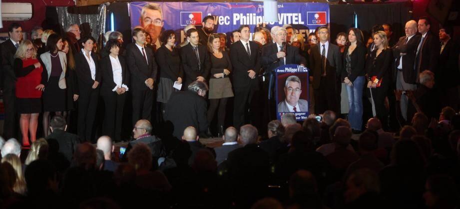 Philippe Vitel a voulu s'entourer d'une équipe composée « de femmes et d'hommes reconnus dans la cité, autour d'un programme crédible et réaliste ».