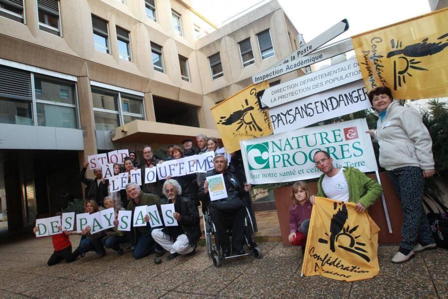 Manifestation agricole à Toulon