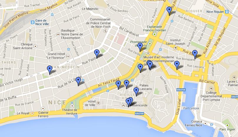 """Les restaurants labellisés """"Cuisine nissarde"""" se trouvent pour la plupart dans et autour du Vieux-Nice"""