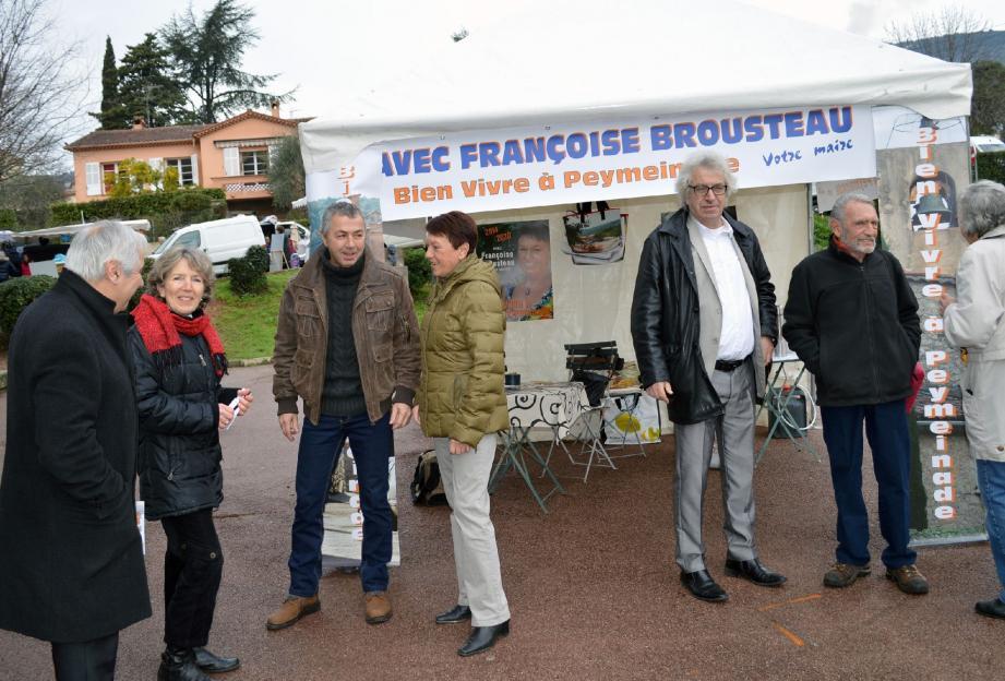 Privilégier le contact direct, c'est au programme du maire sortant, Françoise Brousteau.