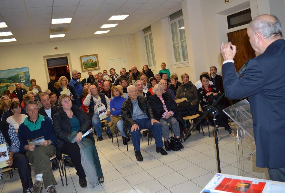 Jacques Varrone a présenté tout ce qui a été réalisé pendant les six dernières années.