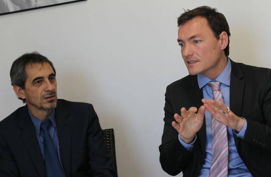 Jean-François Parra (à gauche) sera le premier adjoint de Jean-Valéry Desens s'il est élu.