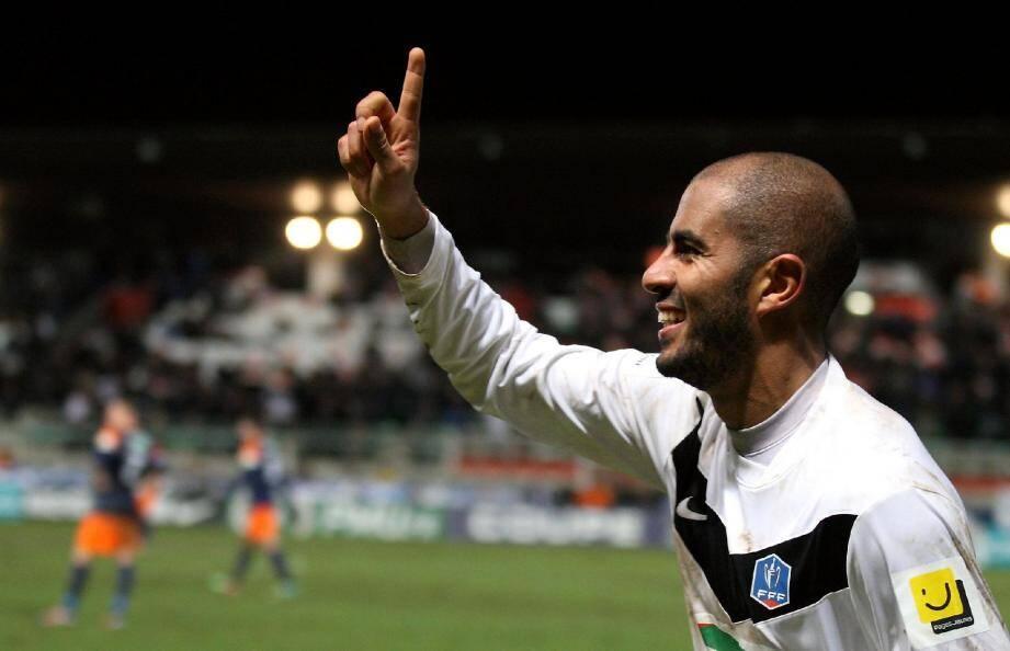 """""""Kassou"""" Zobiri a délivré les Cannois en fin de rencontre en inscrivant le 2e but."""