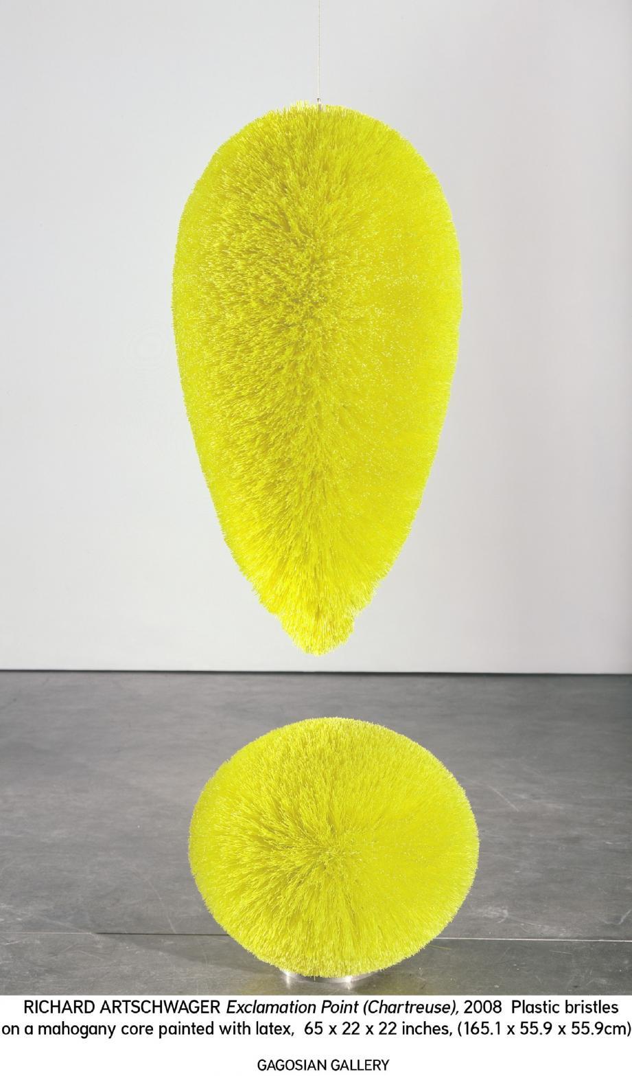 « Exclamation Point » , l'une des œuvres représentatives du travail de Richard Artschwager, présente dans l'exposition qui s'ouvre jeudi.