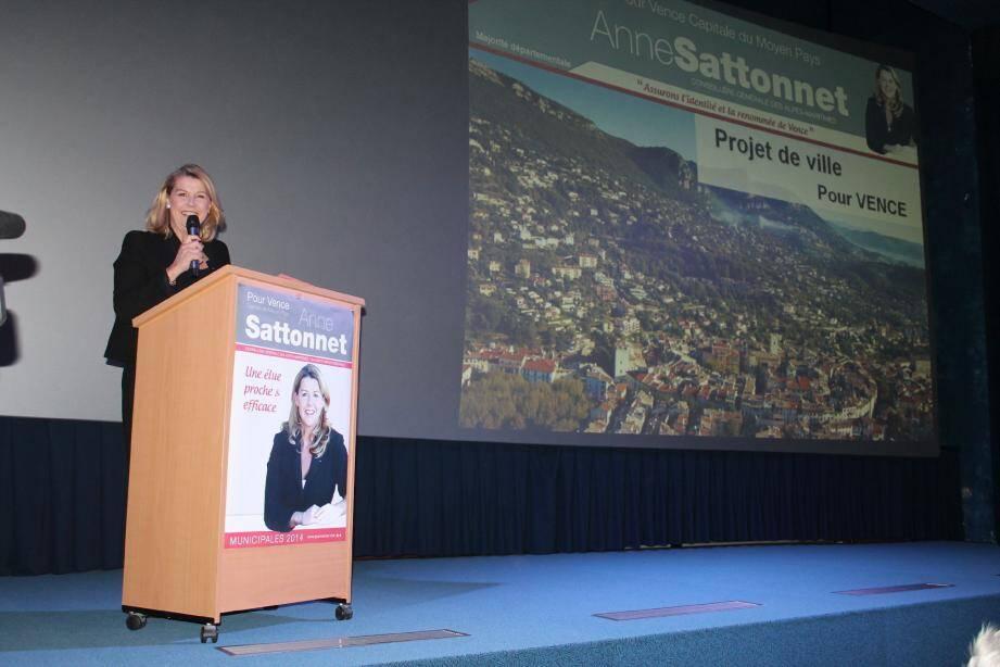 Anne Sattonnet a présenté son programme devant une salle comble.