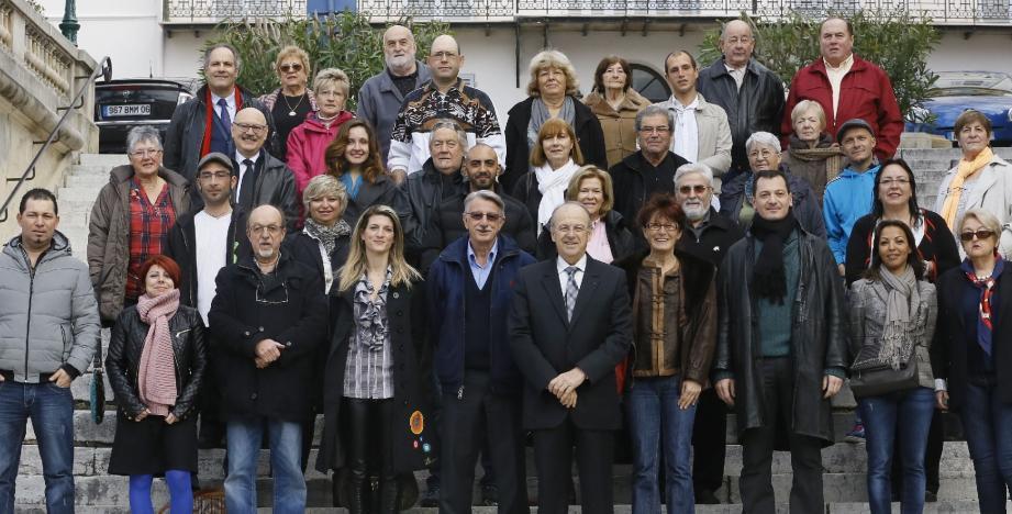 Les hommes et les femmes de la liste Santinelli.