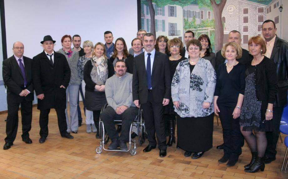 Le maire entouré de ses colistiers pour sa liste « Tous ensemble pour Saint-Martin-du-Var ».