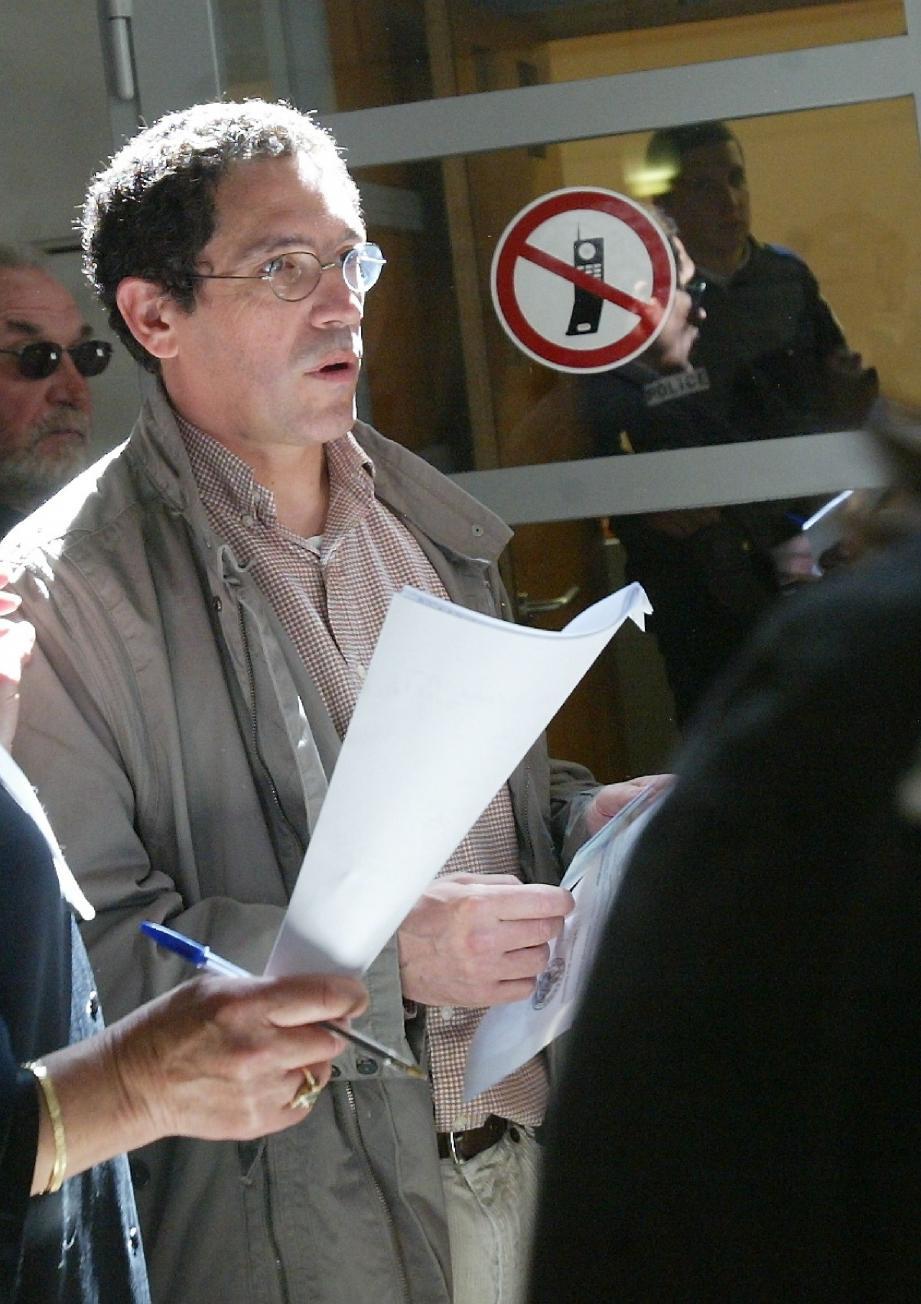 Philippe Iacono lors du premier procès d'assises en avril 2009 à Nice.