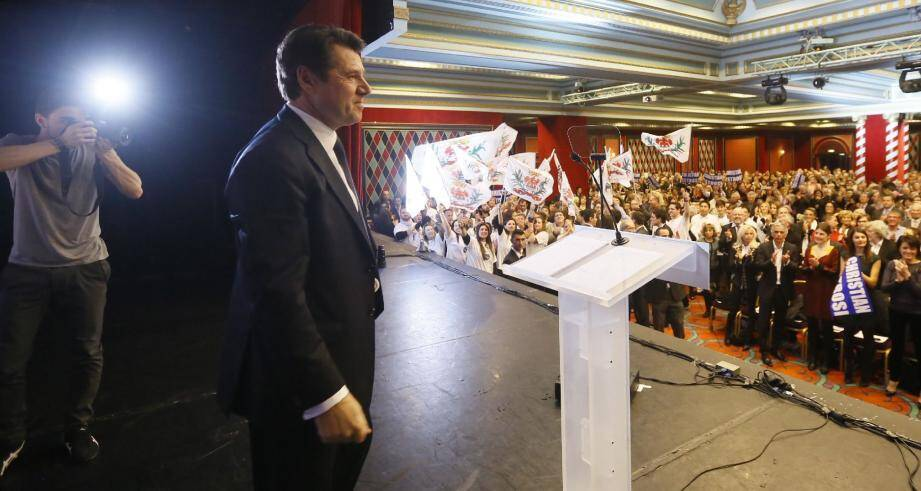 Le maire candidat a synthétisé hier soir, dans une salle du Palais de la Méditerranée archicomble, son « projet pour Nice ».