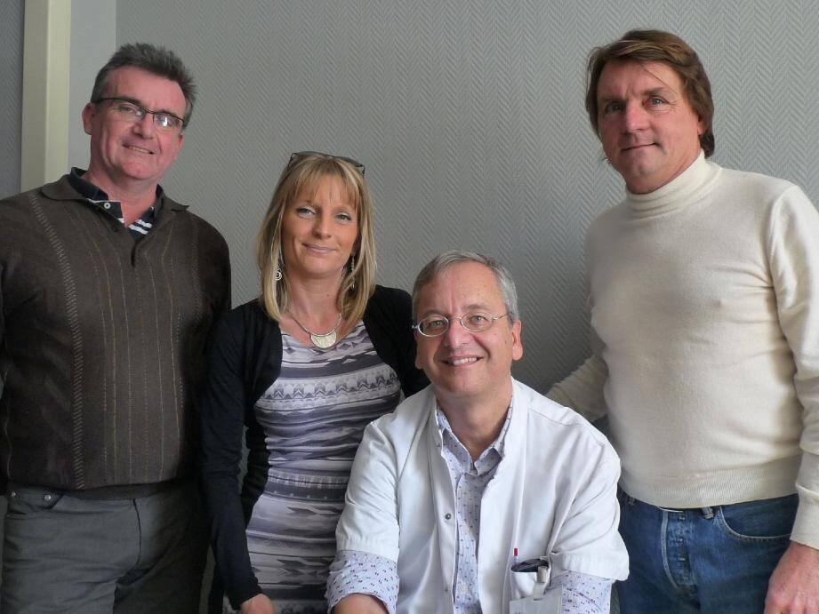 De gauche à droite : Robert Pittin, Sandrine Pastor, Jean-Marc Ferrero et Marc-André Carles.