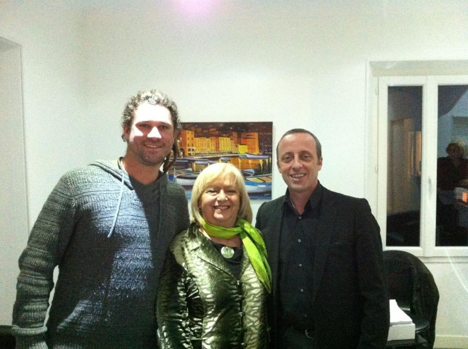 Florian Viala, Danièle Champeme et Christophe Trojani.