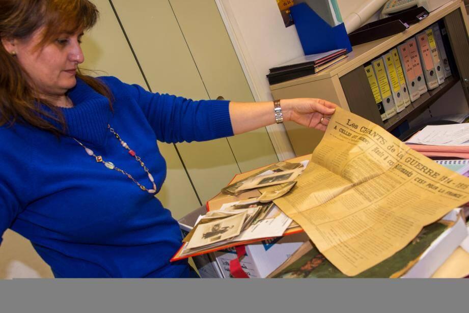 Valérie Rondelli-Renoux, directrice des archives municipales de Menton.