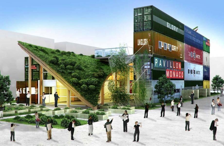Le pavillon qui représentera Monaco à l'exposition universelle de Milan, en 2015, sera offert au Burkina Faso. (Image ES-KO)