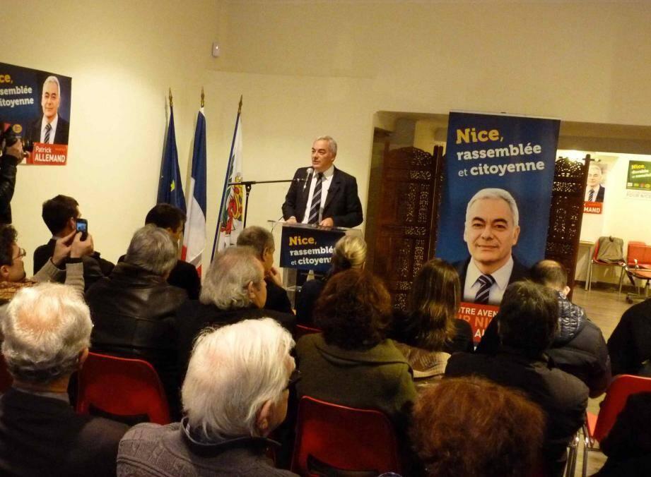 """Patrick Allemand a présenté ce lundi après-midi le deuxième volet du programme de la liste """"Un autre avenir pour Nice"""", qu'il mène pour les élections municipales à Nice."""