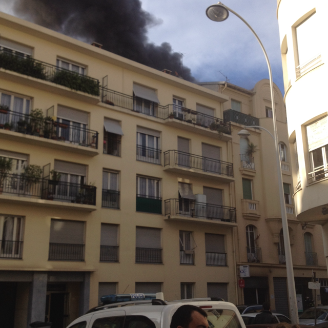 incendie local commercial rue georges doublet nice 140228