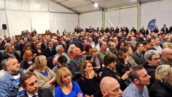Le public du débat organisé mardi soir par Nice-Matin et France Bleu Azur sur l'élection municipale à La Trinité.