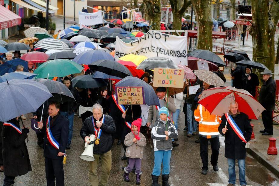 Manifestation à Digne ce mercredi pour la réouverture de la RN 202.