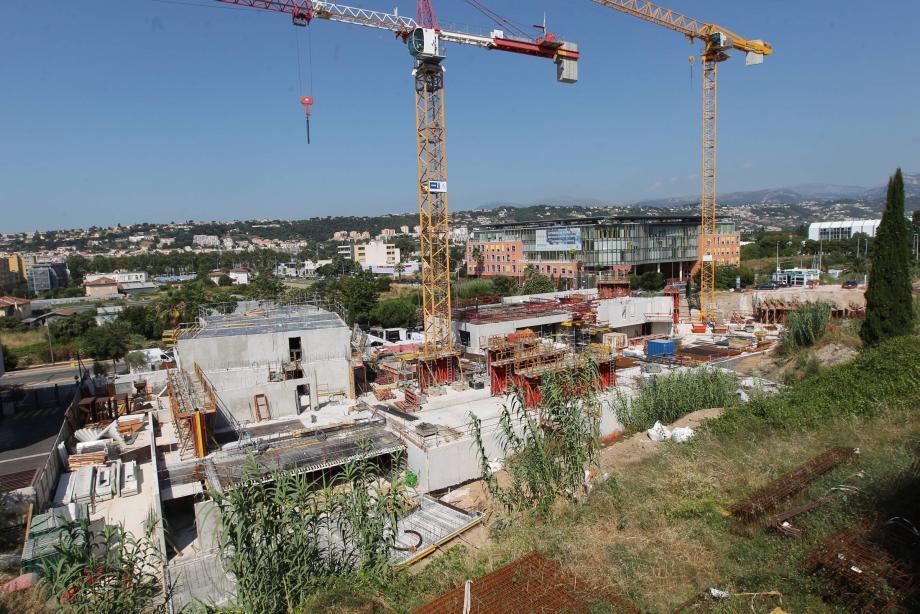Sur le chantier de Nice-Méridia en juillet dernier.