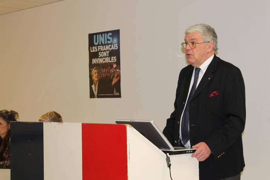 Sécurité renforcée et culture revalorisée sont au programme du candidat du Front national, Jean-Pierre Daugreilh