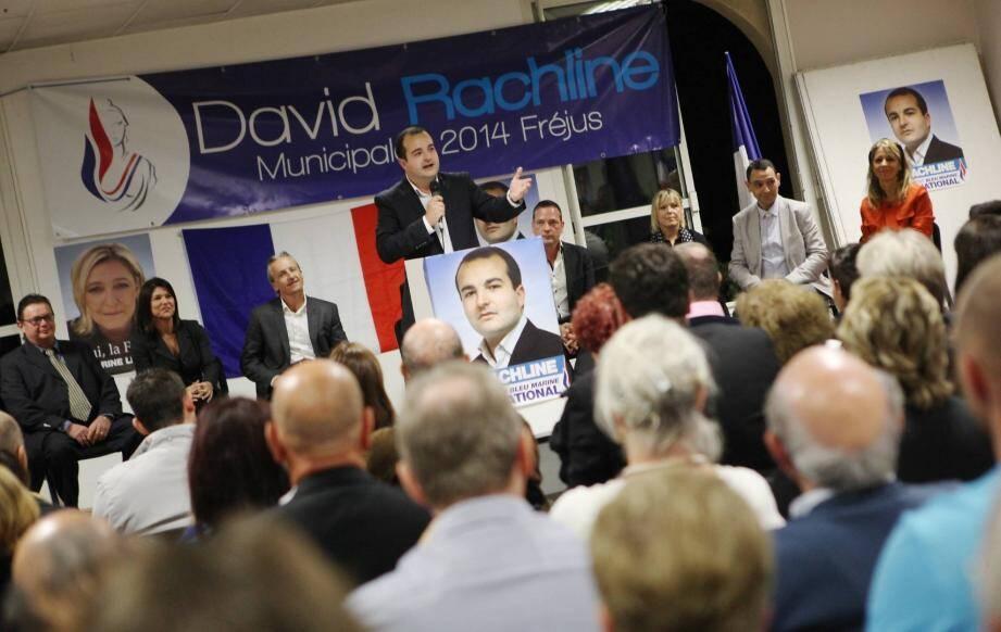 Municipales à Fréjus: premier meeting de campagne pour David Rachline