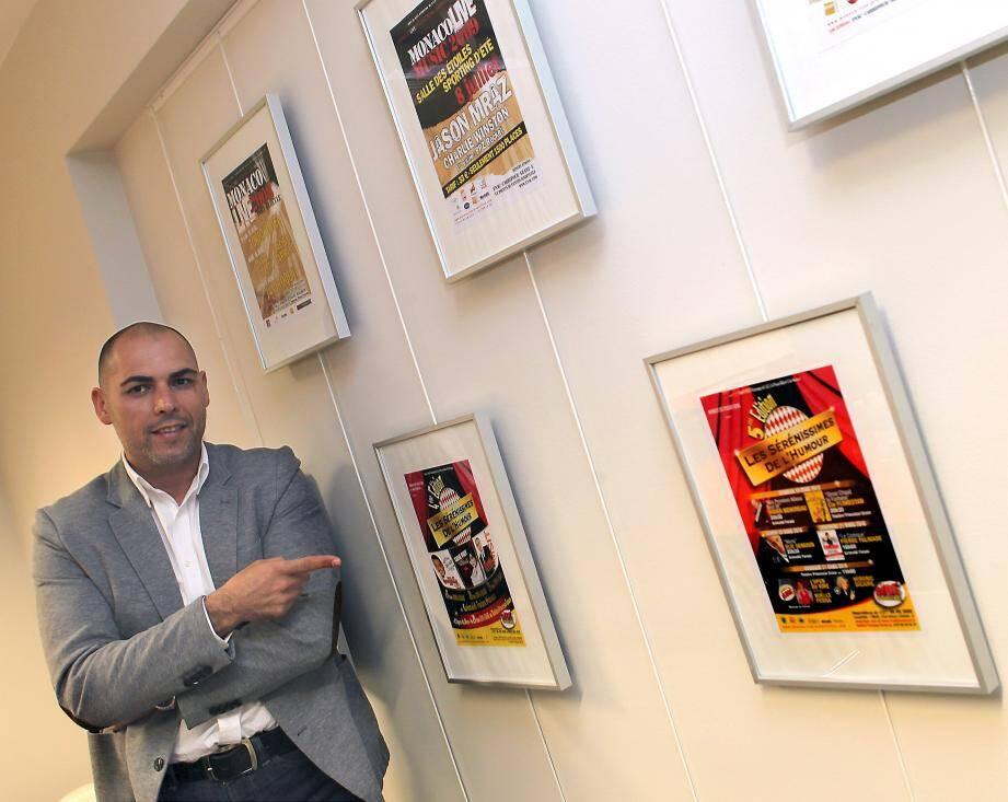 Salim Zeghdar, directeur de Monaco Live Production, travaille sur sa programmation plus d'un an à l'avance.