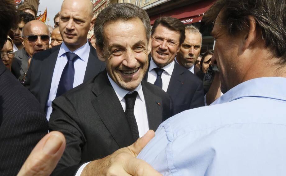 L'ancien Président de la République, Nicolas Sarkozy, ici à Nice.