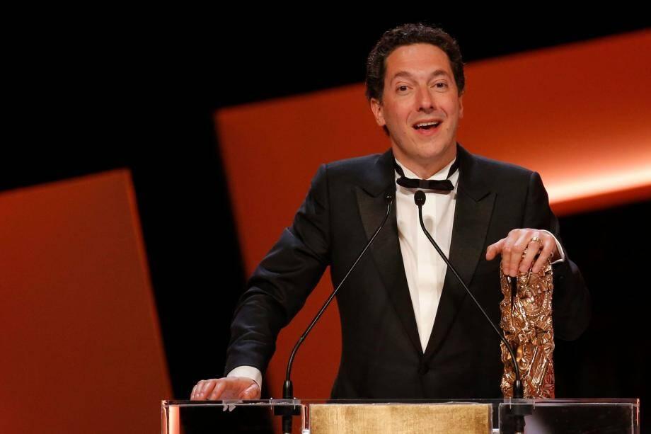 Que du bonheur, hier soir, pour Guillaume Gallienne qui a triomphé aux César en raflant cinq prix !(Photopqr/EPA/Etienne Laurent)