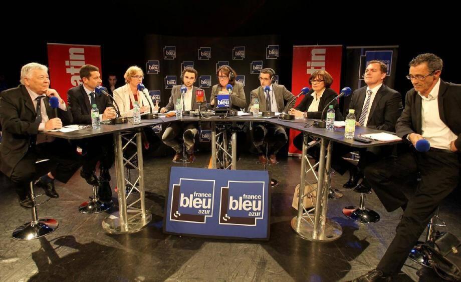 Les six candidats aux municipales de Cannes avaient tous accepté, hier soir, l'invitation de France Bleu Azur et Nice-Matin .
