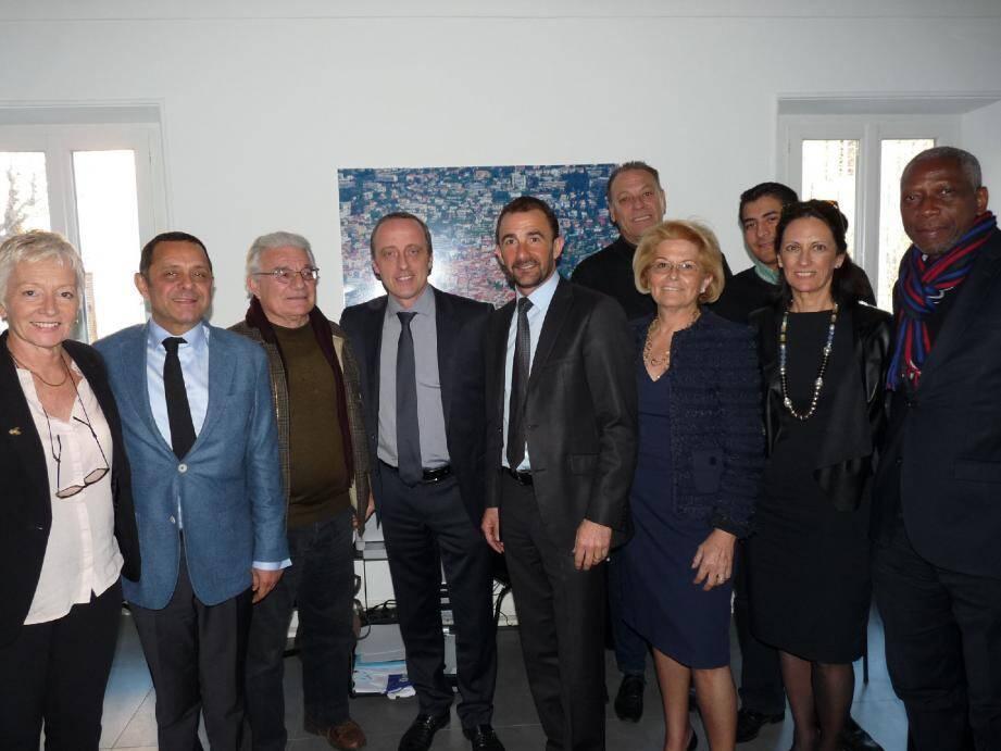 Roger Roux est venu témoigner son soutien à l'équipe de campagne de Christophe Trojani.