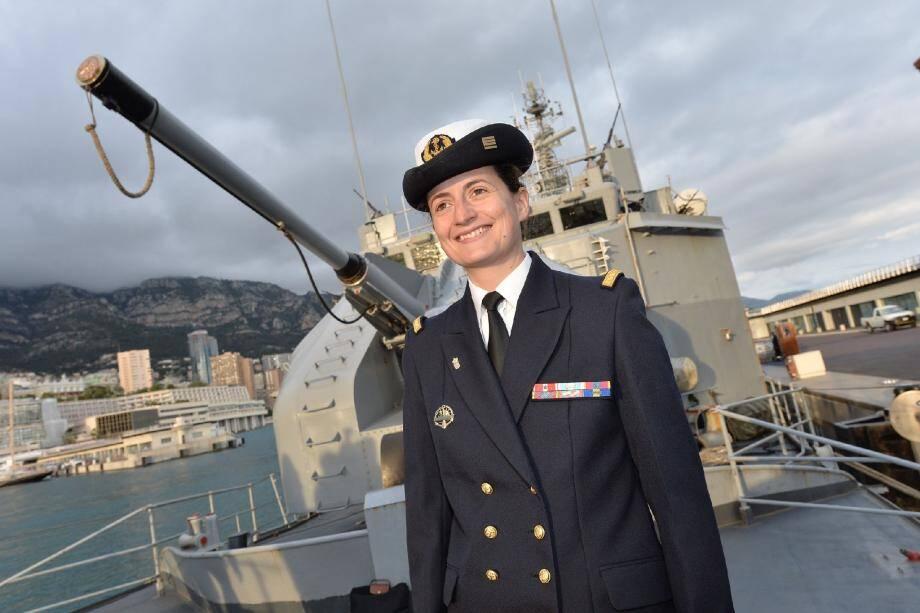 Aurélie Léouffre commande l'aviso depuis un an. Elle n'a pas eu de mal à s'imposer dans l'univers masculin de la Marine.