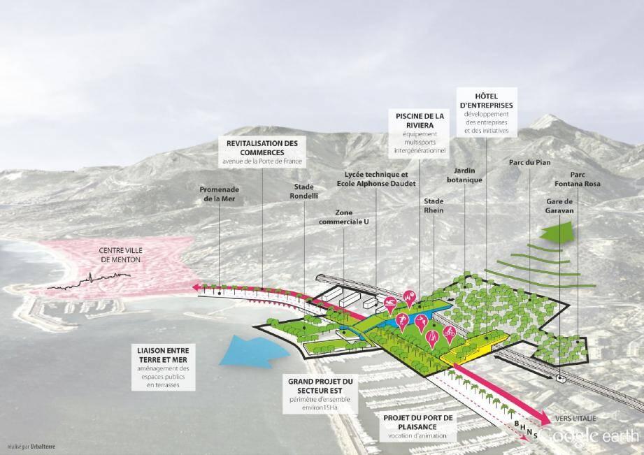 Le projet de Pascale Gérard, baptisé « De la terre à la mer », comporte une piscine, un bowling, des espaces de loisirs mais aussi une « couveuse d'entreprises. (DR)