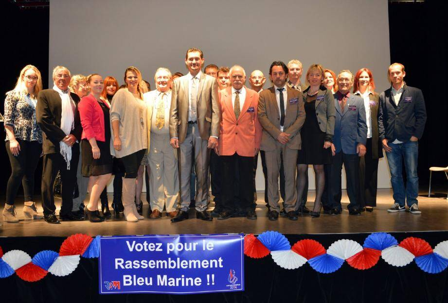 Les colistiers de Stéphane Rioux étaient présents, à l'exception de Romuald Chavanne Brogogno, Danielle Gaudino et Jeanne Valvo.