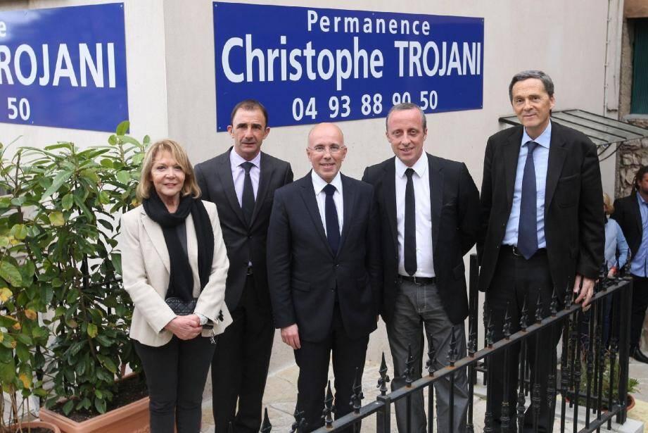 Aux côtés de Christophe Trojani, Colette Giudicelli, Roger Roux, Eric Ciotti et Xavier Beck.