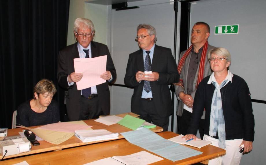 C'est Jean-Pierre Maurin qui a proclamé les résultats.