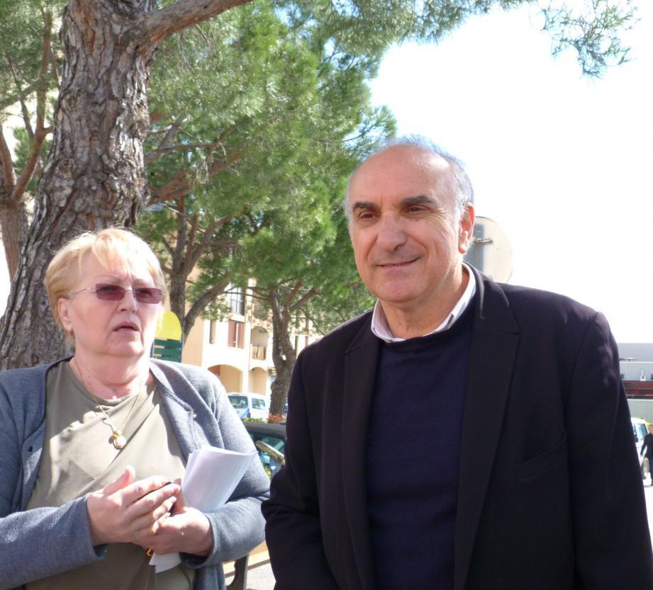 Charles Scibetta hier au centre-ville.