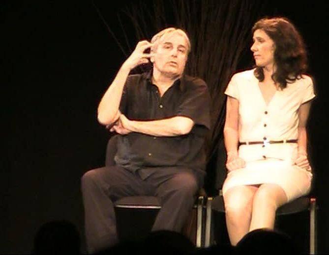 """Jean-Jacques Devaux et Sophie-Anne Lecesne dans """"La Quadrature du Sexe"""" aux Théâtre des Oiseaux à Nice."""
