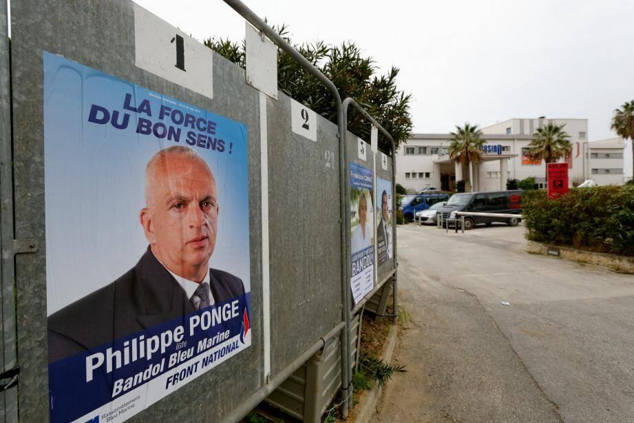 Philippe Ponge, candidat FN à Bandol.