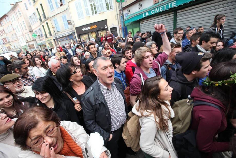 Manifestation à Brignoles contre la venue de Jean-Marie Le Pen