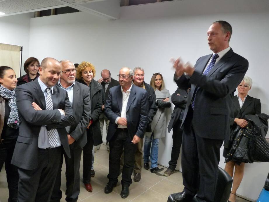 Michel Meïni s'adresse à ses supporters