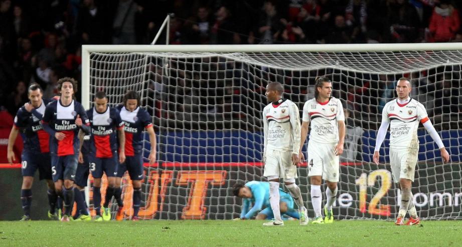 PSG OGC Nice 3-1 parc des princes 131109