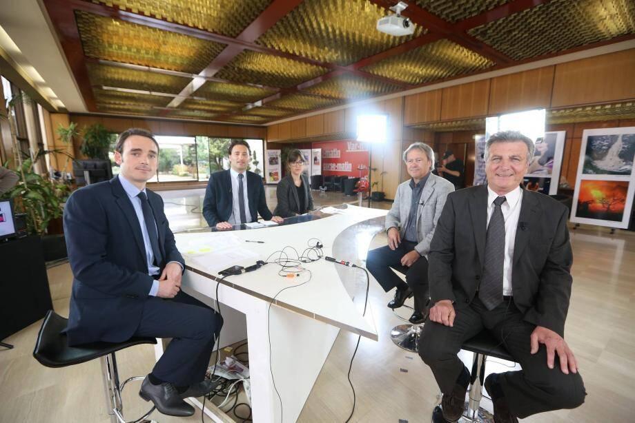 Ladislas Polski, Alexandre Mascagni et Jean-Paul Dalmasso ont répondu aux questions de Nicolas Galup (Azur TV) et Amélie Maurette (Nice-Matin).