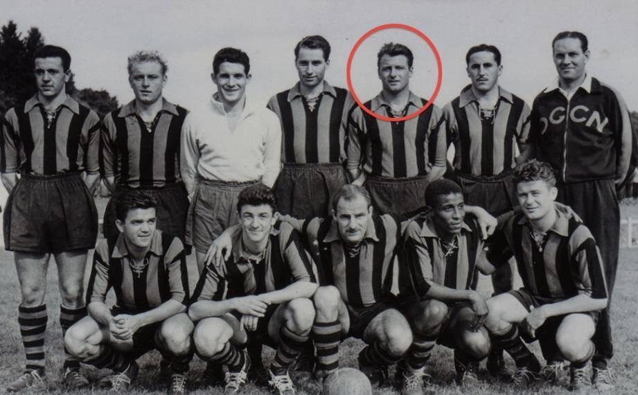OGC Nice 1955-56 remy fronzoni décédé 140412