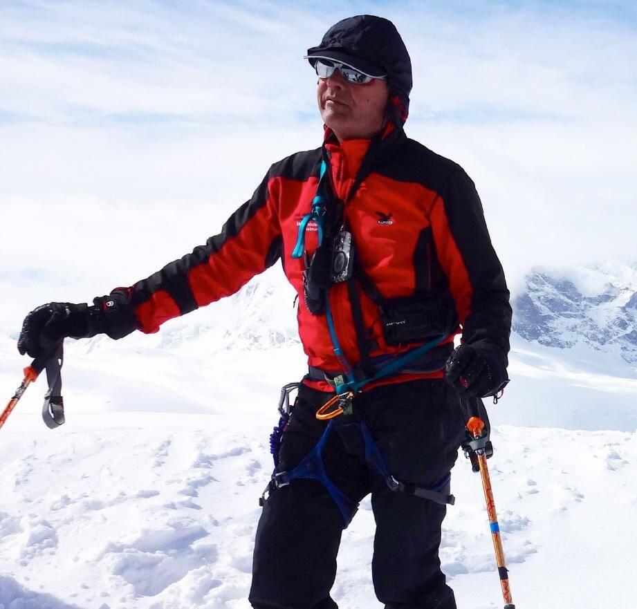 Rémi Bonopéra, Biotois et vétérinaire à Antibes, est décédé dimanche sur le versant italien du mont Malinvern (2 938 m) après une chute fatale.(DR)
