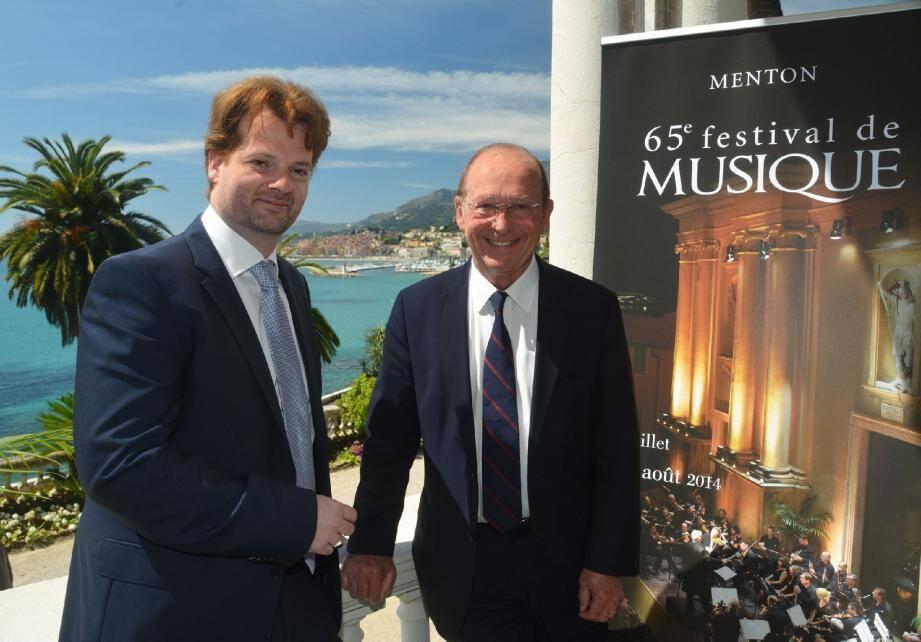 Le programme du 67e Festival de musique de Menton a été dévoilé hier à la villa Maria Serena par Jean-Claude Guibal, député-maire de Menton et Paul-Emmanuel Thomas, directeur artistique du Festival.